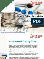 Aldwin Callen Associates Tokyo | Institutional trading Tokyo