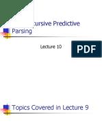 Week 10 - Non Recursive Predictive Parsor (1)