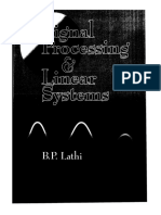 B. P. Lathi - Signal Processing and Linear Systems-Oxford University Press, USA (2000)