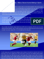 Guess Football Today - Make a Secure Income Betting in Sports