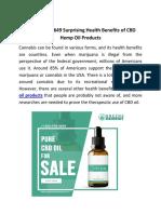 +1 920-770-3649 Surprising Health Benefits of CBD Hemp Oil Products