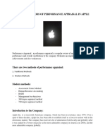 modern methods of performance in APPLE.docx