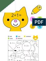 SUPER Librito Colorear Operaciones MatematicaS