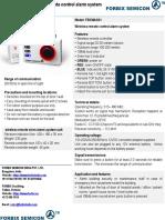 FORBIX SEMICON Wireless panic alarm system, 1 remote 1 siren,FBXWAS01