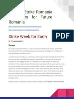 Descriere campanie Global Climate Strike