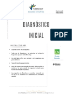 DIAGNOSTICO INICIAL CIENCIAS 4BASICO