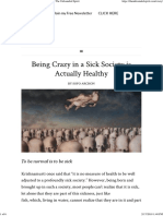 Being Crazy in a Sick Society is Actually Healthy _ The Unbounded Spirit
