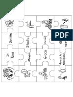 Puzzle verbi - stanze casa