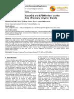 ABS EPDM Ternary polymer Blends