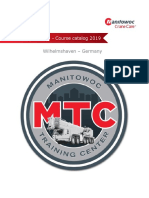 GMK Manitowoc Training catalog 2019