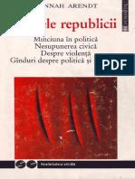 Arendt Hannah Crizele Republicii 1999