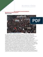 Chile Revolución anti-neoliberal social-estudiantil%0aManifiesto de Historiadores%0a