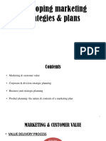 Developing marketing strategies & plans