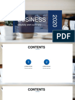 Blue Business Report-WPS Office
