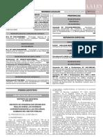 Decreto de urgencia N° 038-2019