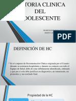 Historia Clinica Del Adolescente