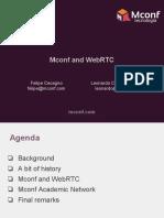 -Mconf and WebRTC