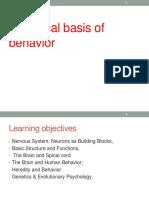 BIOLOGICAL BASIS OF BEHAVIORs
