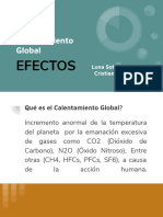 Calentamiento Global - EFECTOS