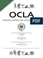 2019 OCLA  Booklet