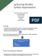 Caring Nursing Models Dalam Aplikasi Keperawatan