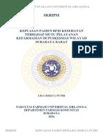 Skripsi Tingkat Kepuasan Pasien BPJS Di Puskesmas Surabaya