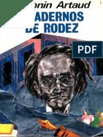 ARTAUD, Antonin - Cadernos de Rodez(abr-may 1946)