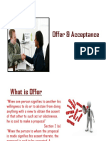 Offer and acceptance