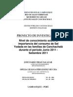 Proyecto de Investigacion Serums 2010