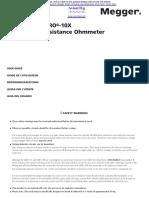 Megger-DLRO-10-manual