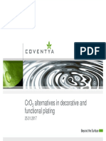 CrO3 alternatives in decorative and functional plating