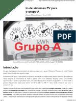 dimensionamento fotovoltaica grupo A