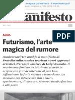 Futurismo, l'Arte Magica Del Rumore Il Manifesto