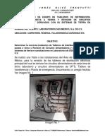 REPORTE TECNICO DE Tableros de distribución, Sistemas de puesta a tierra y Revisión de Circuitos alimentadores y derivados con su sistemas de tierra en canalizacion