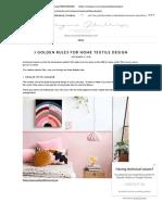 3 Golden Rules for Home Textile Design - Longina Phillips Designs