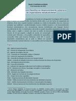 Dossiê Acordo de Alcântara - 10 Dez. 2019