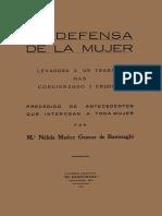 Nelida Madoz Gascue - 1931 - En defensa de la mujer