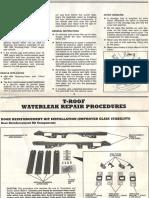 T-roof waterleak repair procedures