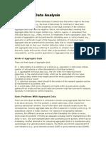 Aggregate Data Analysis