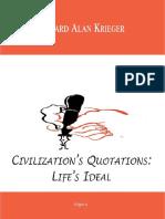 Civilization s Quotations Life s Ideal
