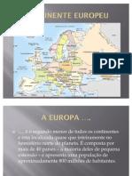CONTINENTE EUROPEU FÍSICO-2010