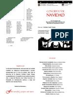 PROGRAMA CONCIERTO NAVIDAD 2019