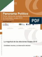 Primer informe de resultados (Post-electoral)