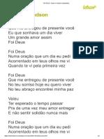 FOI DEUS - Edson & Hudson