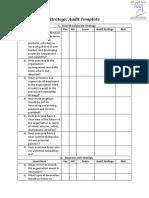Strategic audit template