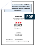 The Challenges and Responsibilities of HRM in the Context of Ethnocentrism and Social Inequalities Against Migrants Based on Individual Differences at the Workplace_2019-09-19