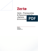 Zerto Virtual Replication vSphere Enterprise Guidelines
