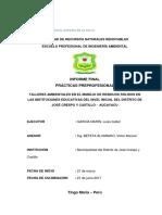 TALLERES AMBIENTALES EN EL MANEJO DE RESIDUOS SÓLIDOS EN LAS INSTITUCIONES EDUCATIVAS DEL NIVEL INICIAL DEL DISTRITO DE JOSÉ CRESPO Y CASTILLO -  AUCAYACU (1)