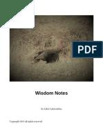 Wisdom Mystic Masters Reader's Notes