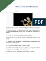 50 frases de Bruce Lee